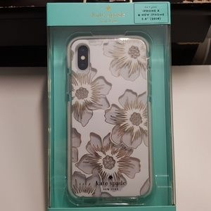 """Case kate spade for iphone x/xs 5.8"""" clear-white"""